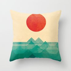 The ocean, the sea, the wave Throw Pillow