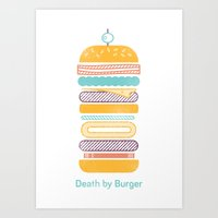 Death by Burger Art Print