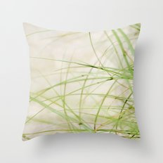 Green Wisps Throw Pillow
