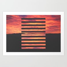 Black Strips Art Print