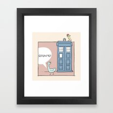 Don't Let the Pigeon Drive the Tardis Framed Art Print