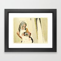 Self Portrait with Digital Camera Framed Art Print