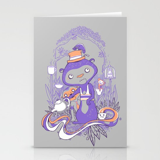 Tea Monkey Tea Party Stationery Card