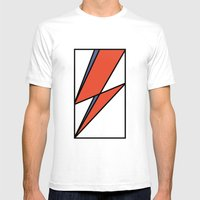 Bowie Tribute Mens Fitted Tee White SMALL