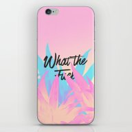 iPhone & iPod Skin featuring What The F**k by Hanna Kastl-Lungberg