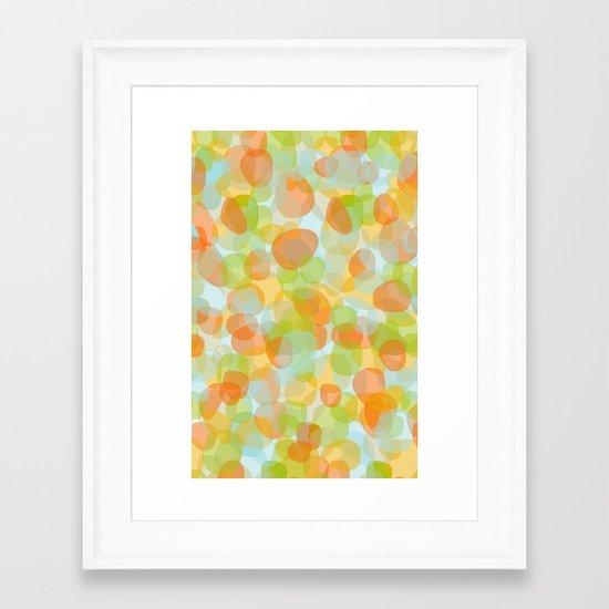Pebbles Orange Framed Art Print