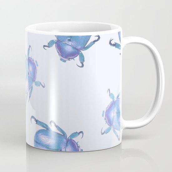 lavender blue scarab pattern Mug