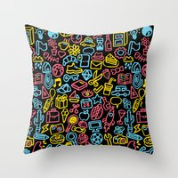 Galore (black version) Throw Pillow