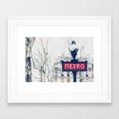 Paris Metro Sign Framed Art Print
