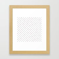 Pin Points Polka Dot Pin… Framed Art Print