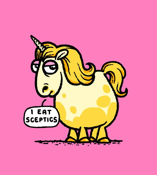 Overweight Unicorn Canvas Print