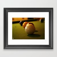 Snookered Framed Art Print