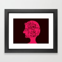 The Adventure Is Here In… Framed Art Print