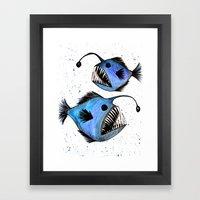 Anglerfish Framed Art Print