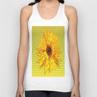 Contemporary All Yellow … Unisex Tank Top