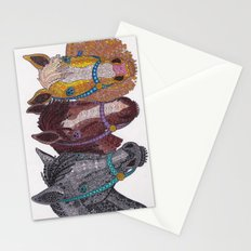 Horse Triptych #2 Stationery Cards