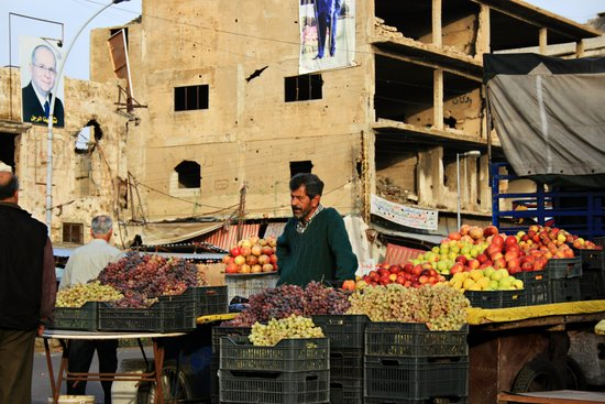 Fruit Vendor; Tripoli, Lebanon. Canvas Print