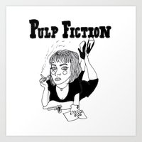 pulp fiction Art Prints featuring Pulp Fiction by ☿ cactei ☿