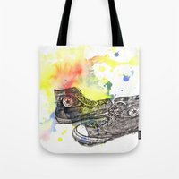 Converse Sneakers Painting Tote Bag
