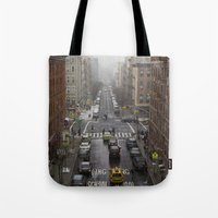 East Harlem NYC Snowy Sa… Tote Bag