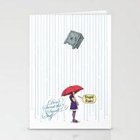 Stupid Rain! Stationery Cards