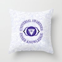 Third Eye chakra Throw Pillow