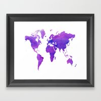 Purple Map Framed Art Print