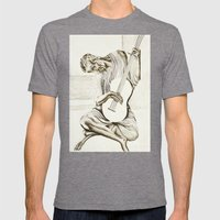 The New Old Guitarist Mens Fitted Tee Tri-Grey SMALL