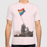 Rainbow Flag  Mens Fitted Tee Light Pink SMALL