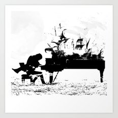 Pianist Passion Art Print