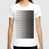 Pattern #6 Greyscale Womens Fitted Tee White SMALL