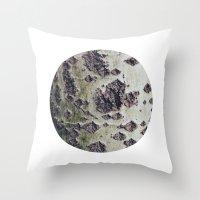 Planetary Bodies - Green… Throw Pillow