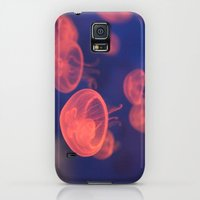 Galaxy S5 Cases featuring Red Jellyfish by Floyd Triangle