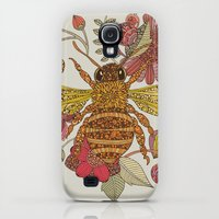 Galaxy S4 Cases featuring Bee awesome by Valentina Harper