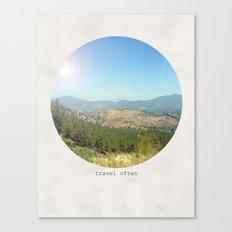 Travel often Canvas Print
