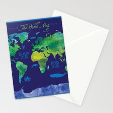 Nautical Map Stationery Cards