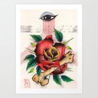 The Eye, The Rose, The B… Art Print