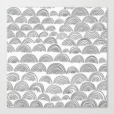 half circle pattern Canvas Print