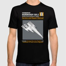Normandy SR-2 Cerberus Service and Repair Manual Mens Fitted Tee SMALL Black