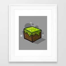 Grass Block Framed Art Print