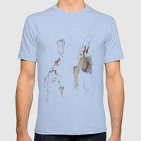 Flower Impression Mens Fitted Tee Athletic Blue SMALL