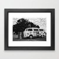 Snacks In Mono Framed Art Print