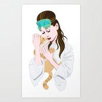 Holly Golightly's cat / Audrey Hepburn Art Print