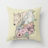 si canem corvus Throw Pillow