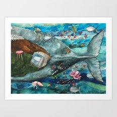 Whale - Tail Art Print