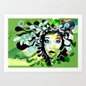 spring girl Art Print
