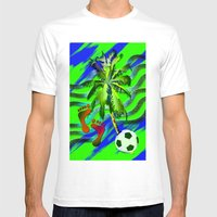 Soccer on the beach Mens Fitted Tee White SMALL