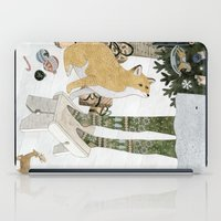 Christmas tree decorating iPad Case