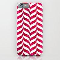 Red Leaf Herringbone iPhone 6 Slim Case