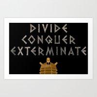 Doctor Who Dalek: Divide… Art Print